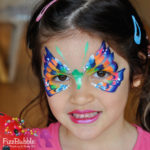 fizzbubble-butterfly-face-paint-blue-orange-green