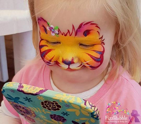 Fizzbubble Face Paint Baby Tiger Orange Mirror Moment Fizzbubble