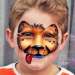 fizzbubble-face-paint-dog-brown-gold-puppy