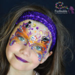 fizzbubble-face-paint-halloween-orange-purple-mask