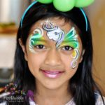 fizzbubble-face-paint-unicorn-green-and-yellow