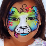 fizzbubble-face-painting-dog-puppy-blue-green