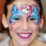 fizzbubble-face-painting-unicorn-pegasus-blue